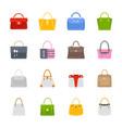 ladies purses icon set vector image