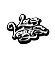 las vegas sticker modern calligraphy hand vector image