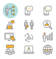 management consulting icon flat line icon vector image vector image