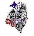 melanesian style tattoo vector image