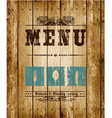 Menu card vector image vector image
