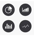 modern graph icons set vector image vector image