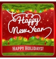 New Year greeting card decorated by pine wreath vector image vector image