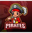 pirate boy esport mascot logo design