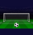 realistic football goal vector image vector image