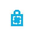 recycle tote bag logo icon vector image