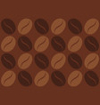 retro pattern with coffee bean vector image vector image