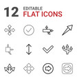 right icons vector image vector image