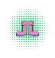 Rubber boots icon comics style vector image