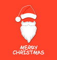 santa claus hat and beard santa claus vector image