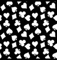 seamless pattern background of white poker suits vector image vector image