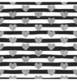 Seamless pattern of silver hearts vector image vector image
