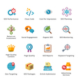 SEO and Internet Marketing Flat Icons - Set 4 vector image vector image
