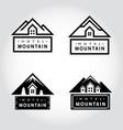 set hotel mountain badge vector image