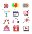 Set of bright color icons vector image vector image