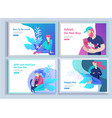 set of landing page templates with symbol vector image