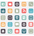 Set of social media buttons for design vector image vector image