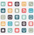 set social media buttons for design vector image