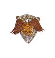 Sheriff Badge American Eagle Shield Drawing vector image