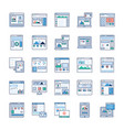 Site flow wire frame flat icons pack
