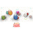 spring easter is a beautiful badge lettering and vector image vector image
