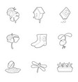 spring time icons set outline style vector image vector image