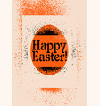stencil spray style grunge easter greeting card vector image vector image