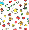 Summer seamless pattern Flowers background vector image vector image