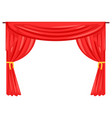 theater stage drape curtain vector image vector image