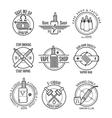 Vape shop labels and vapor bar logo vector image vector image