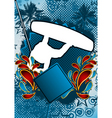 wakeboarder summer background vector image vector image