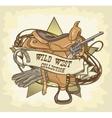 Wild West label vector image vector image