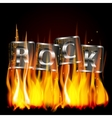 word rock metal flame vector image