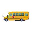 yellow school bus side view back to school vector image vector image
