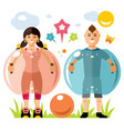 zorbing soccer bumper ball sign two vector image vector image