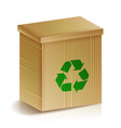 recycle box realistic blank ecologic craft vector image