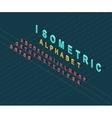 Isometric Design Style Alphabet vector image