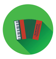 Accordion icon vector image vector image
