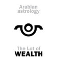 astrology lot of wealth vector image vector image