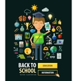 Back to school logo design template vector image vector image