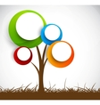 Background with abstract tree vector image vector image