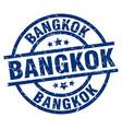 bangkok blue round grunge stamp vector image vector image
