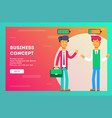 businessmen and life energy vector image vector image