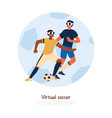 cheerful teenagers in sportswear and vr glasses vector image vector image