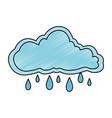 cloud sky rainy icon vector image