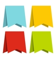 Color pennants icon flat style vector image