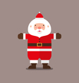 cute big fat Santa Claus Flat design vector image vector image
