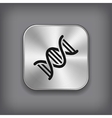 DNA icon - metal app button vector image vector image