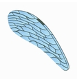 Dragonfly wing icon cartoon style vector image