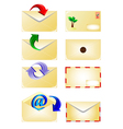 email and arrow vector image vector image
